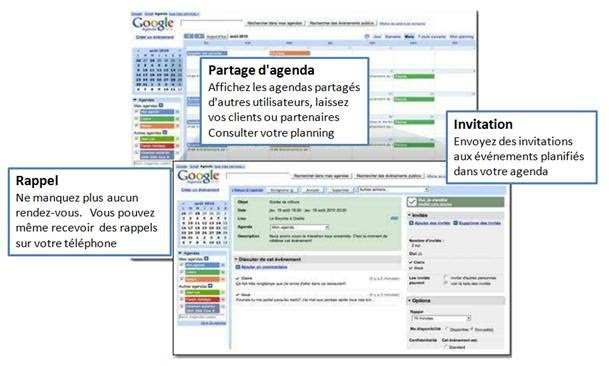 Interface Agenda Google