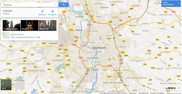 Nouvelle interface Google Map